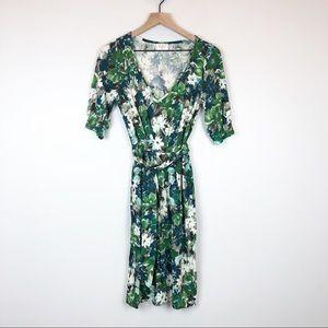 LEONA EDMISTON FROCKS Floral A Line Jersey Dress